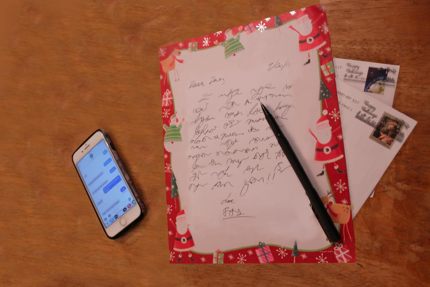 What ever happened to writing letters? Text messages have all but destroyed a long tradition of hand-written letters for all occasions.
