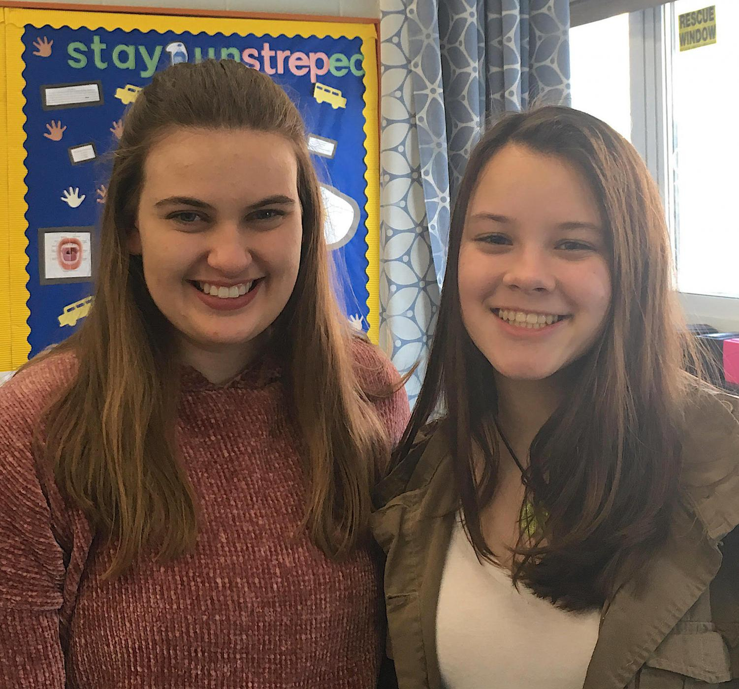 HOSA president Lauren Ifkovits, senior, and vice president Judith De Oliveira, sophomore, are campaigning to raise the legal nicotine purchasing age to 21 in Connecticut.