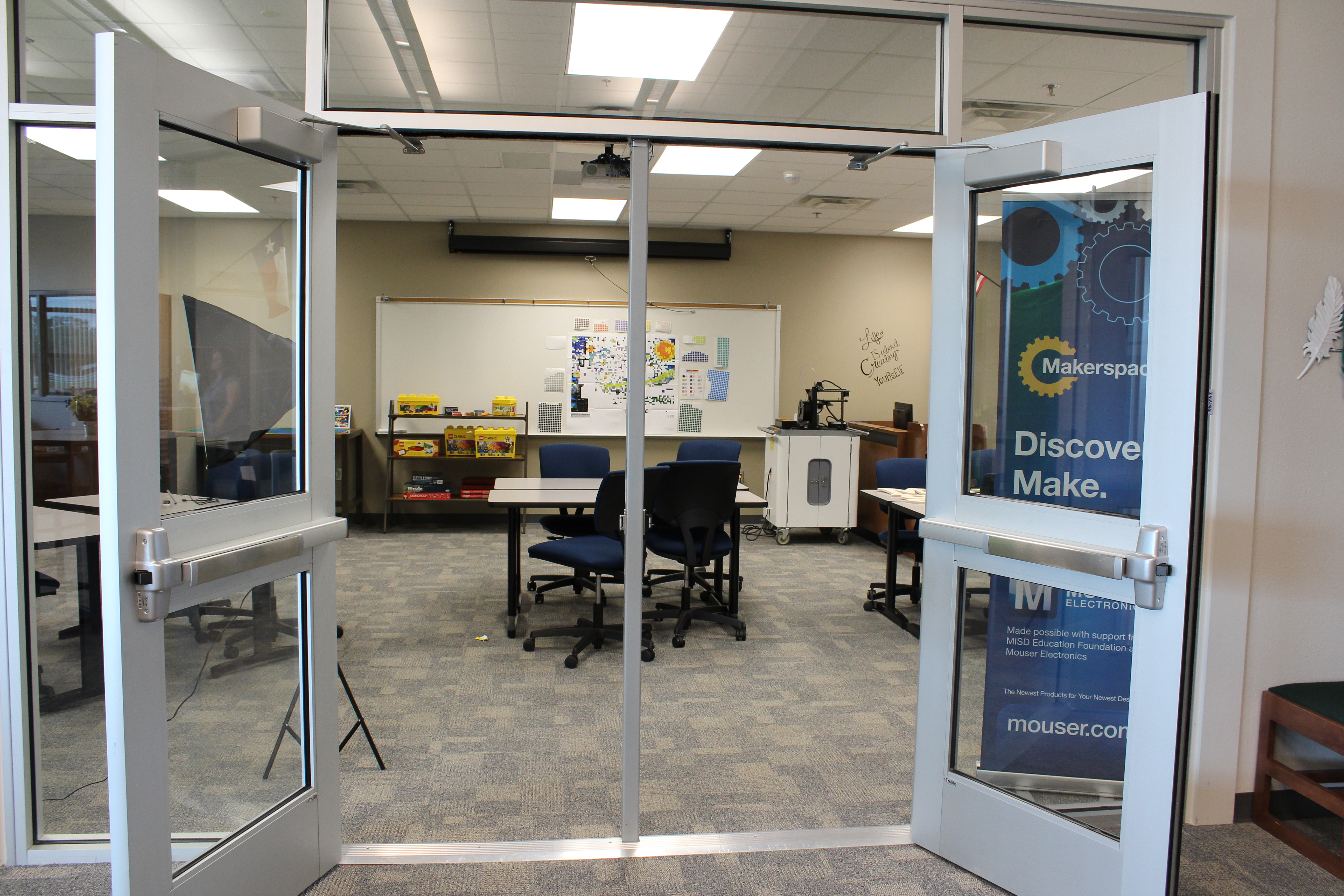 The Maker Space hopes to encourage student's creativity outside the classroom.