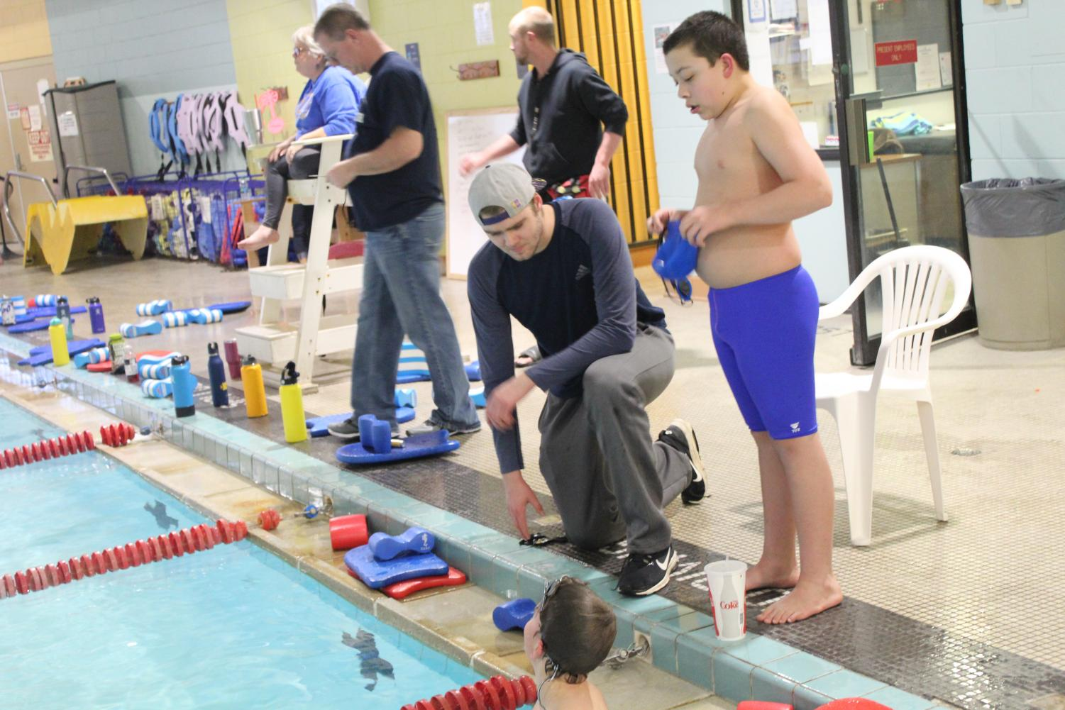 Dec. 1, 2018, the first swim meet of the season finds Heffernan not fully healed. He turns to coaching the younger club groups.