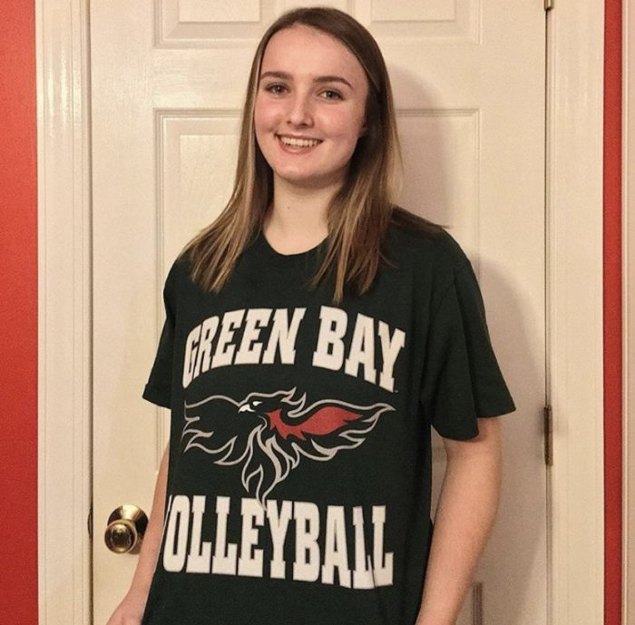 From DG to GB: junior Addy Karmik commits to play Division I volleyball