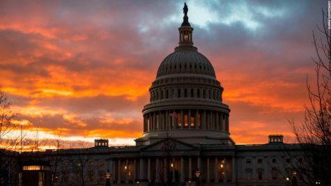 The Capitol at sunset after the Senate rejected competing Democratic and Republican proposals for ending the partial government shutdown, which is the longest in the nation's history, in Washington, Thursday, Jan. 24, 2019. (AP Photo/J. Scott Applewhite)