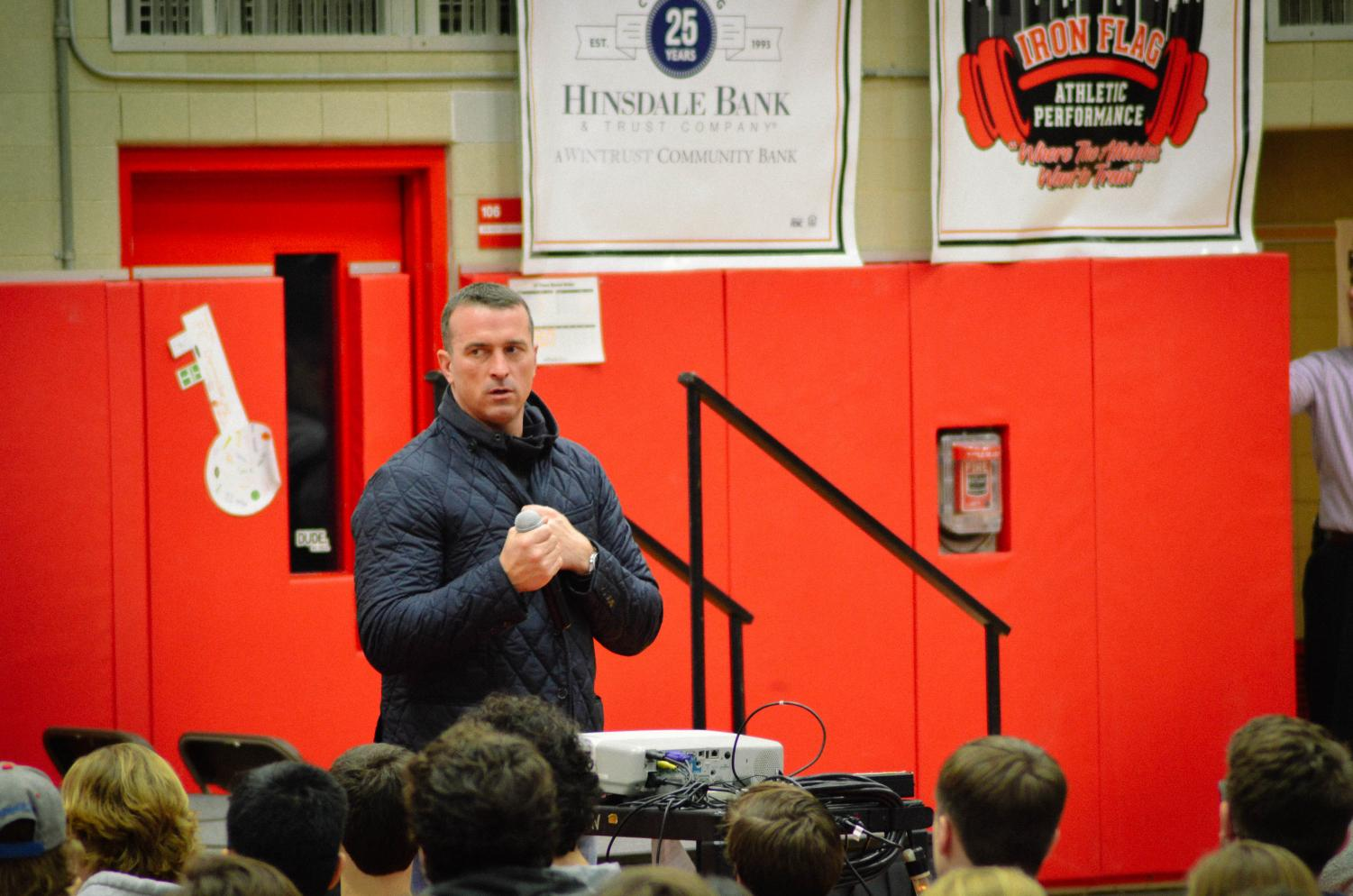 On Wednesday, Jan. 23, Chris Herren, former NBA player, spoke to all grade levels in the gymnasium about the causes and effects of his drug usage.