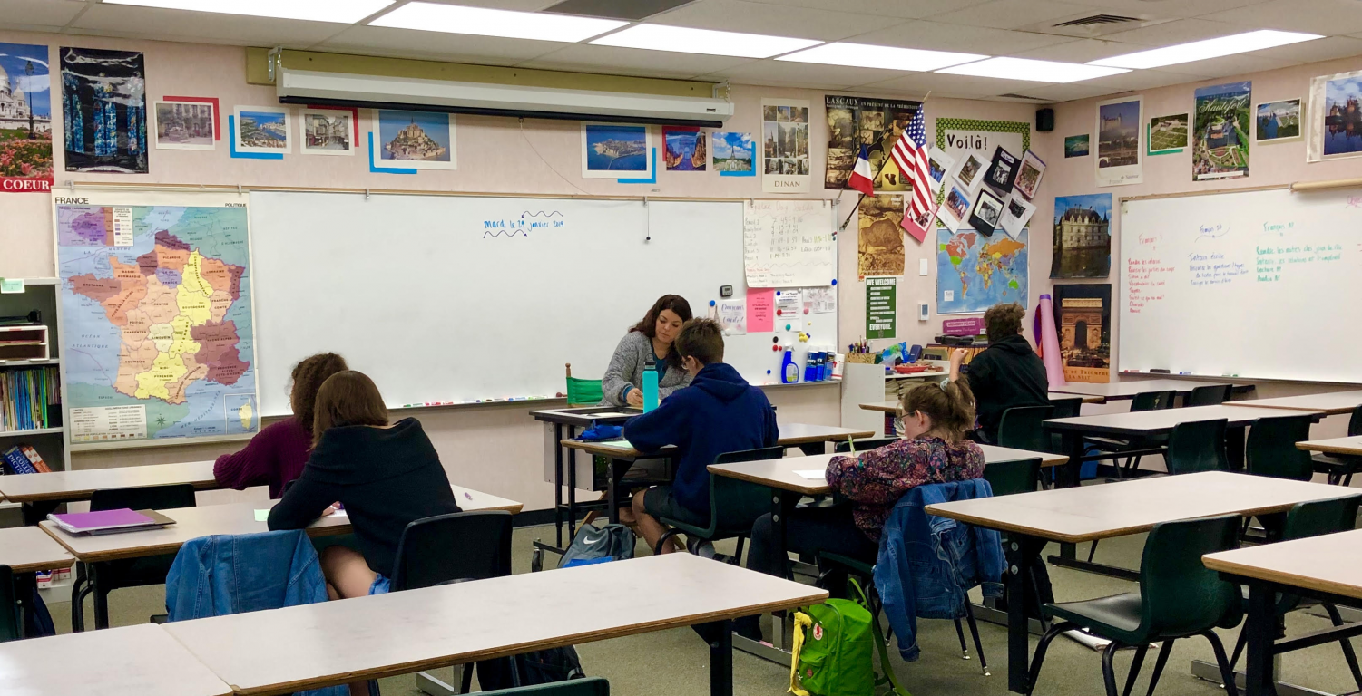 French classes at Granite Bay High historically have smaller numbers than Spanish, and this year is no exception.