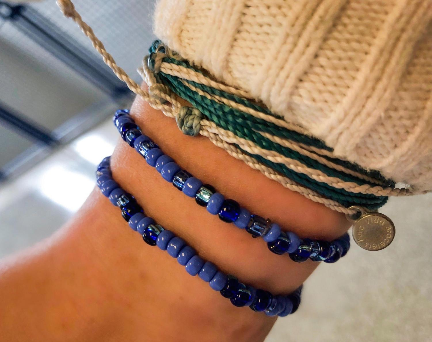 Senior Natan Rosen's dad decided to make bracelets as a mindfulness practice. Since he started making them, he estimates he has made and given out—for free—10,000 beaded bracelets over the last four years.