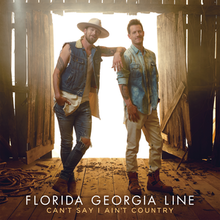 The Can't Say I Ain't Country album cover features members Tyler Hubbard and Brian Kelly standing in a barn like structure.