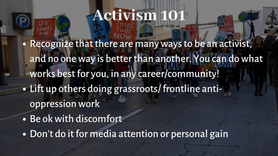 Activism+is+often+portrayed+as+very+flashy+and+attention-grabbing%3A+marches%2C+rallies%2C+political+lobbying%2C+etc.+However%2C+there+are+many+ways+of+being+an+activist+and+no+way+is+more+important+than+another.+Oftentimes%2C+the+flashy+activism+that+gets+more+attention+overshadows+grassroots+activists+working+at+the+front+lines+of+oppression.+It%27s+important+for+everyone+to+recognize+that+many+ways+that+activism+occurs.+Anyone+can+be+an+activist%2C+you+just+have+to+figure+out+the+way+that+it+works+best+for+you%21
