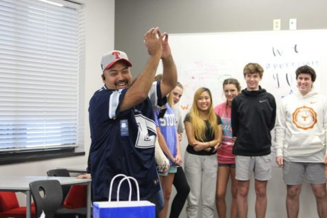 A sweet surprise: long-term CHS9 custodian receives jersey from students