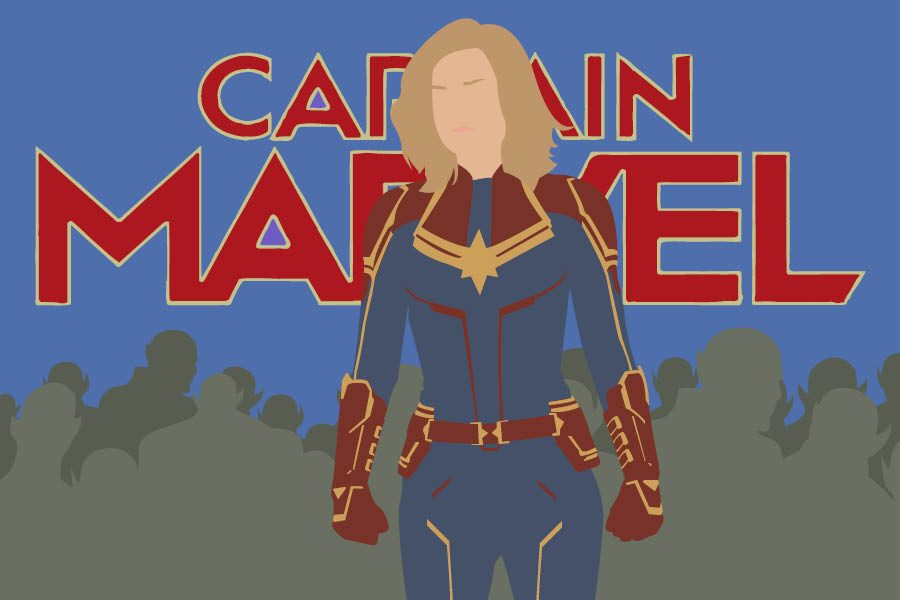 Captain+Marvel+%28Brie+Larson%29+stands+tall+against+the+growing+Skrull+threat.