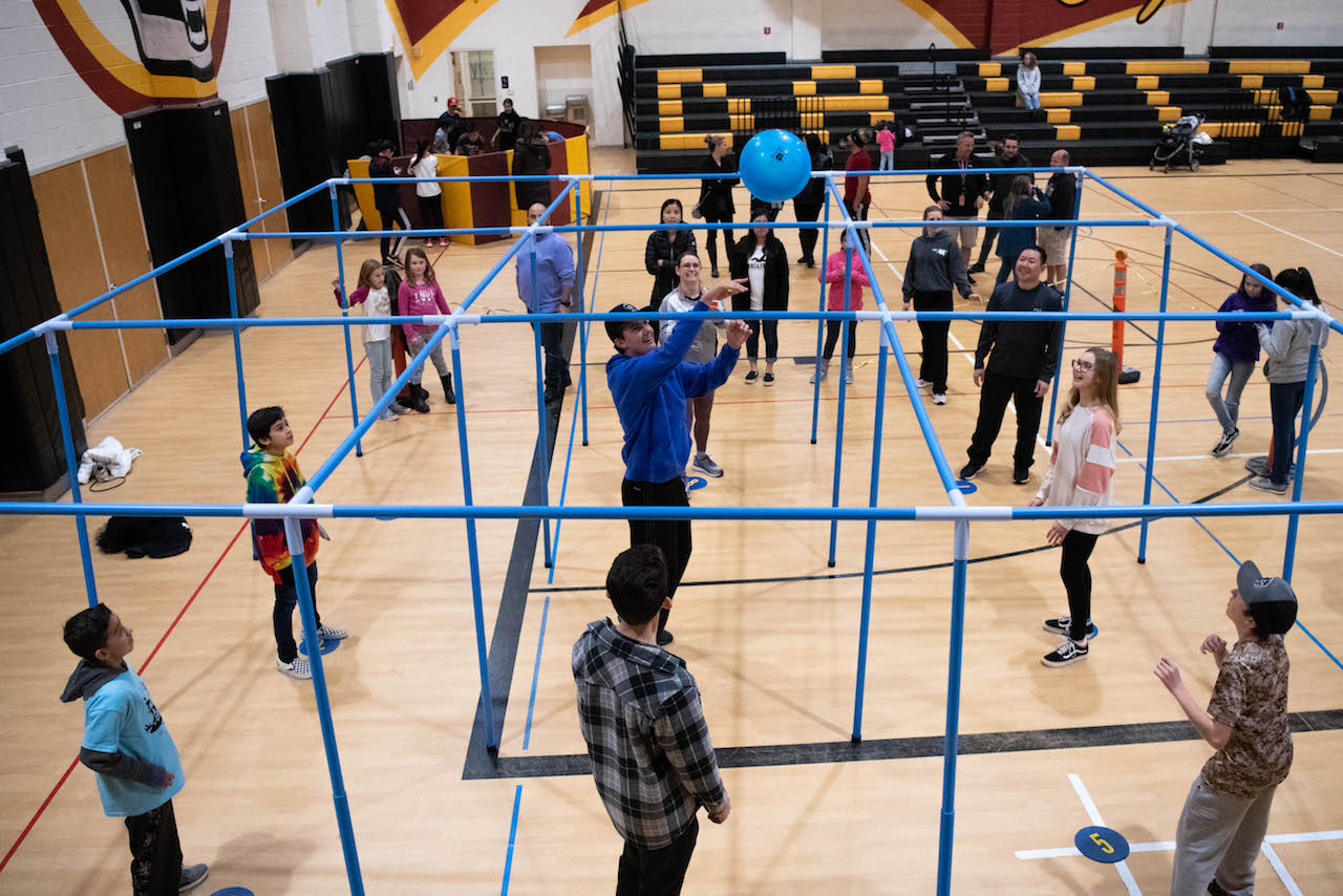 Family Fitness Night is when families can go out and play games at Day Creek's gym.