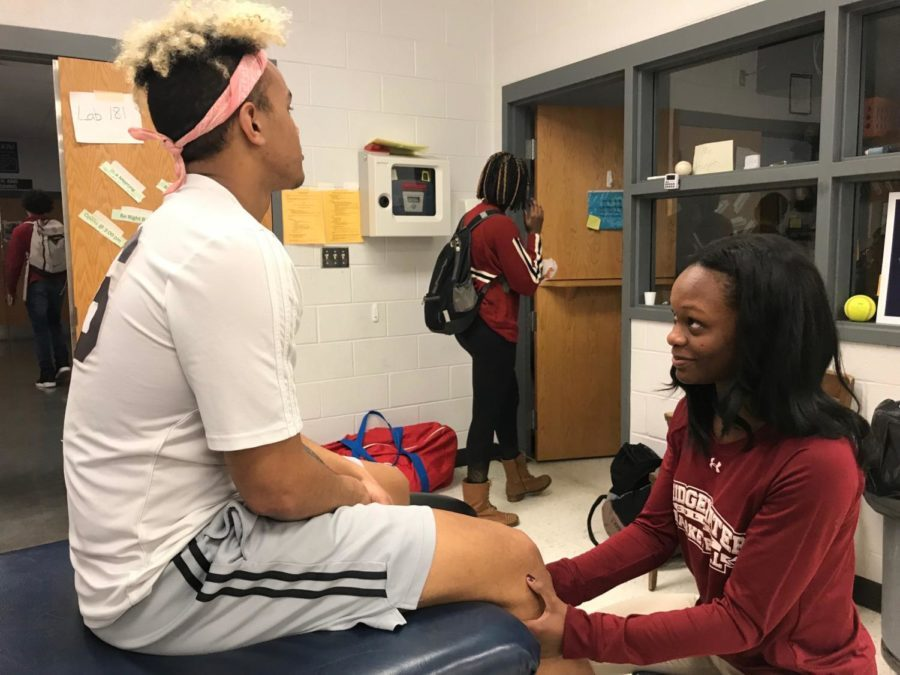 Athletic training becomes reality for Pinder