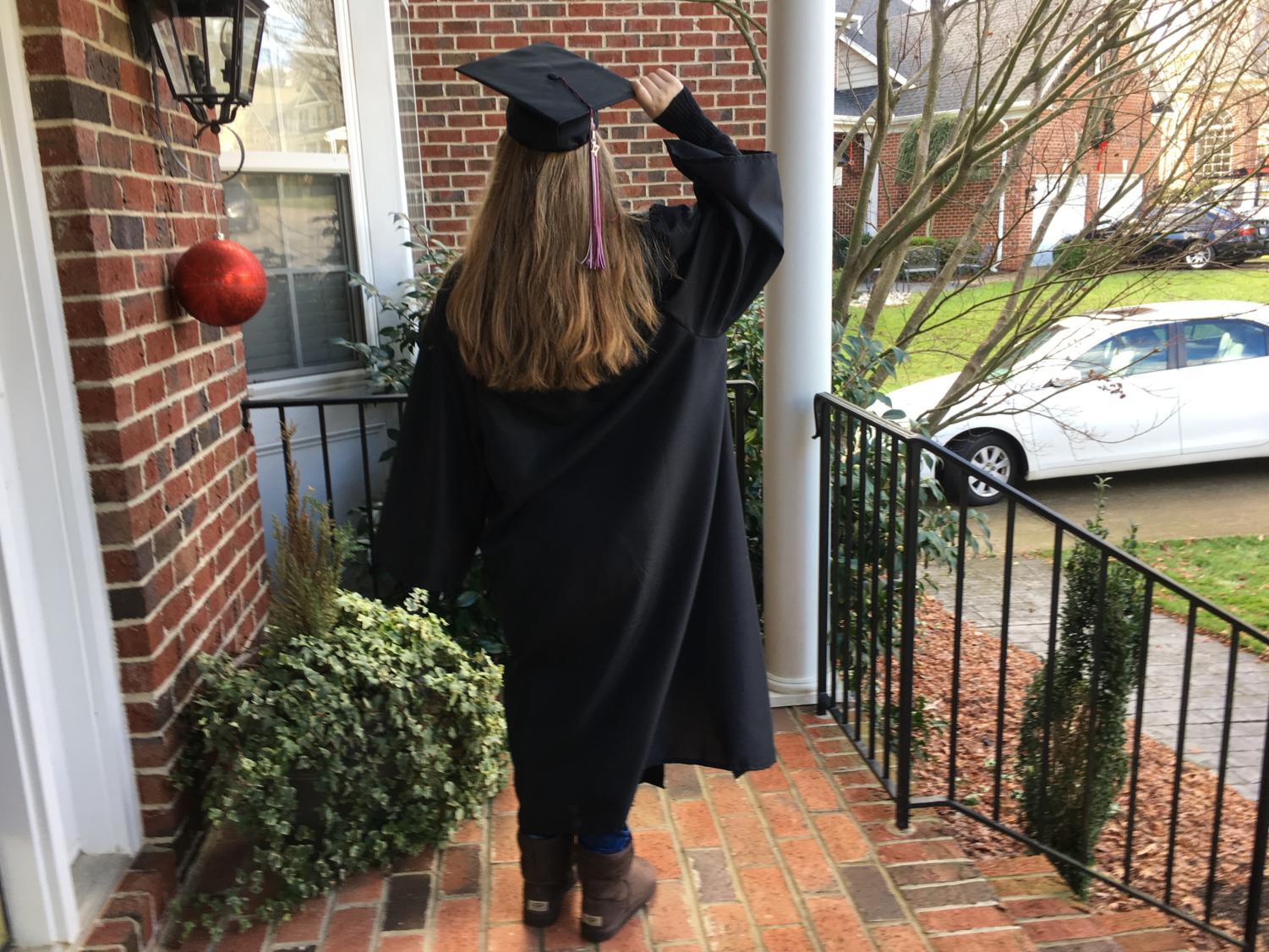 Mid-year graduates get to wear the cap and gown during the holiday season.