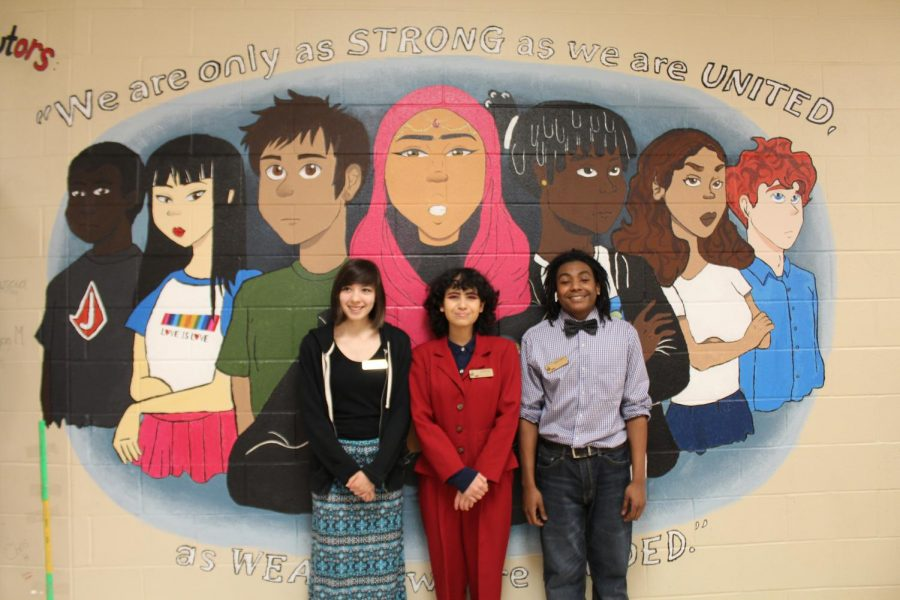 Animation students design unity mural