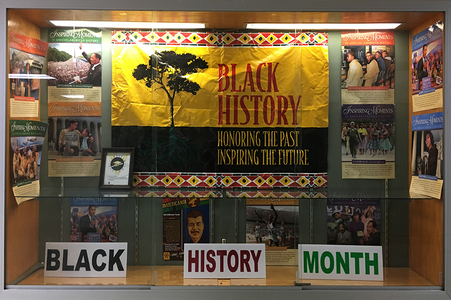 Black History Month is honored in this Swartz display to showcase the rich past of African Americans.  While this is a good start, we need to do more to fully embrace the importance of Black History Month.