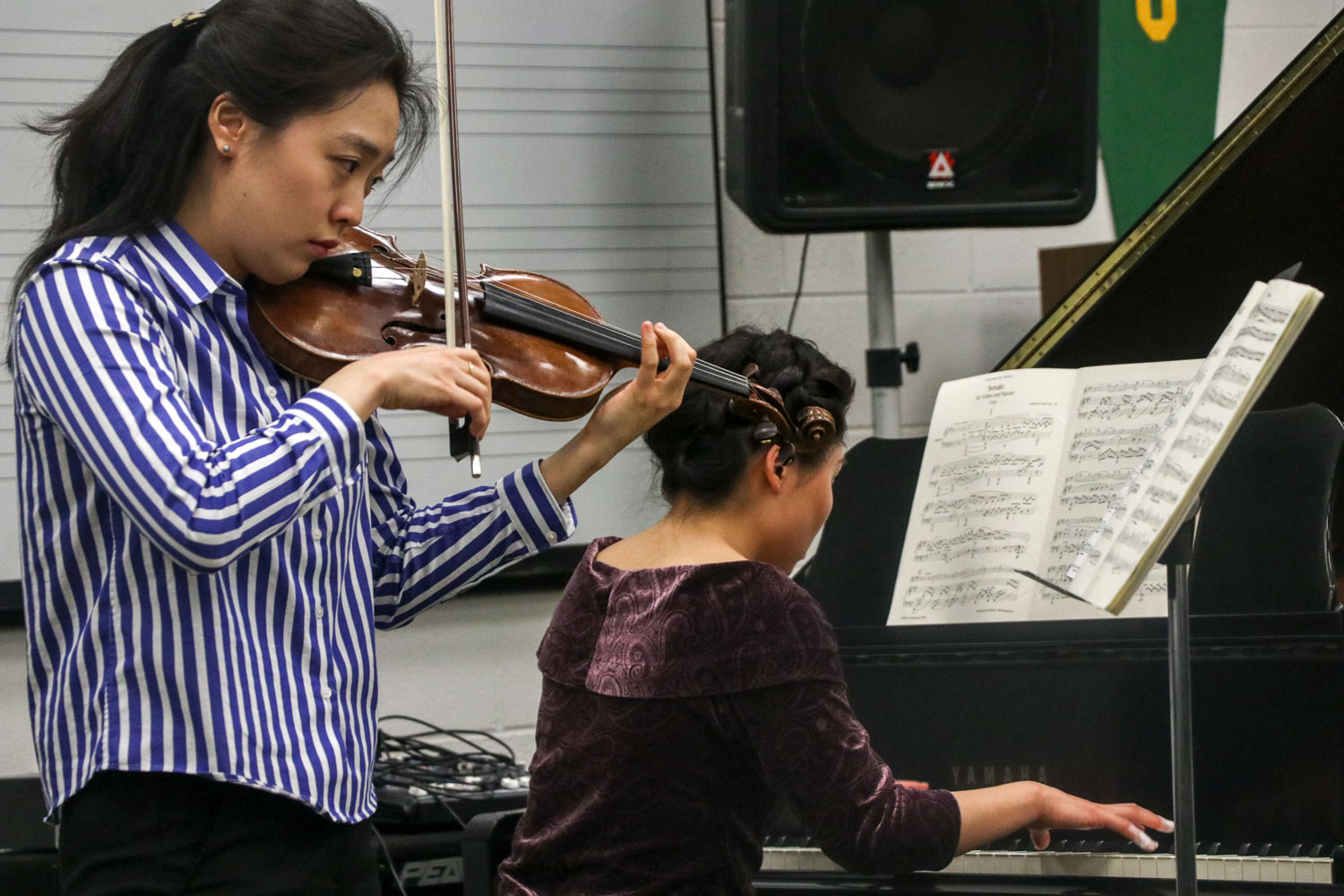 The Humanities department of Seward County Community College hosted Lucy Tan and Yunjung's first night of their tour,
