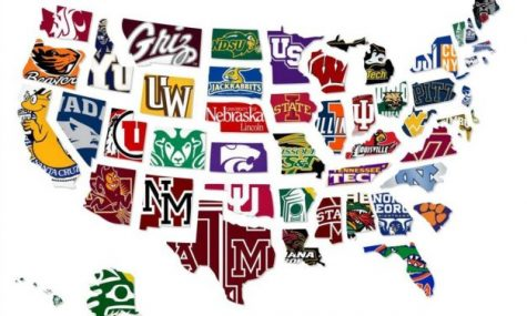 A map of some of the more prestigious universities to attend in the U.S.