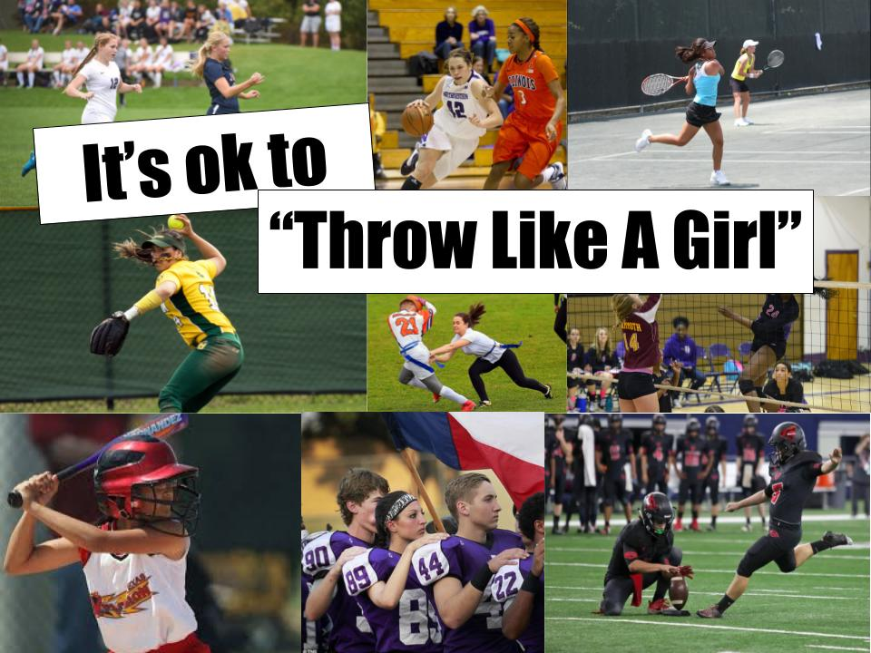 Many girls feel like they aren't seen as good players because of their gender and that needs to change. Girls can play sports just like men can.