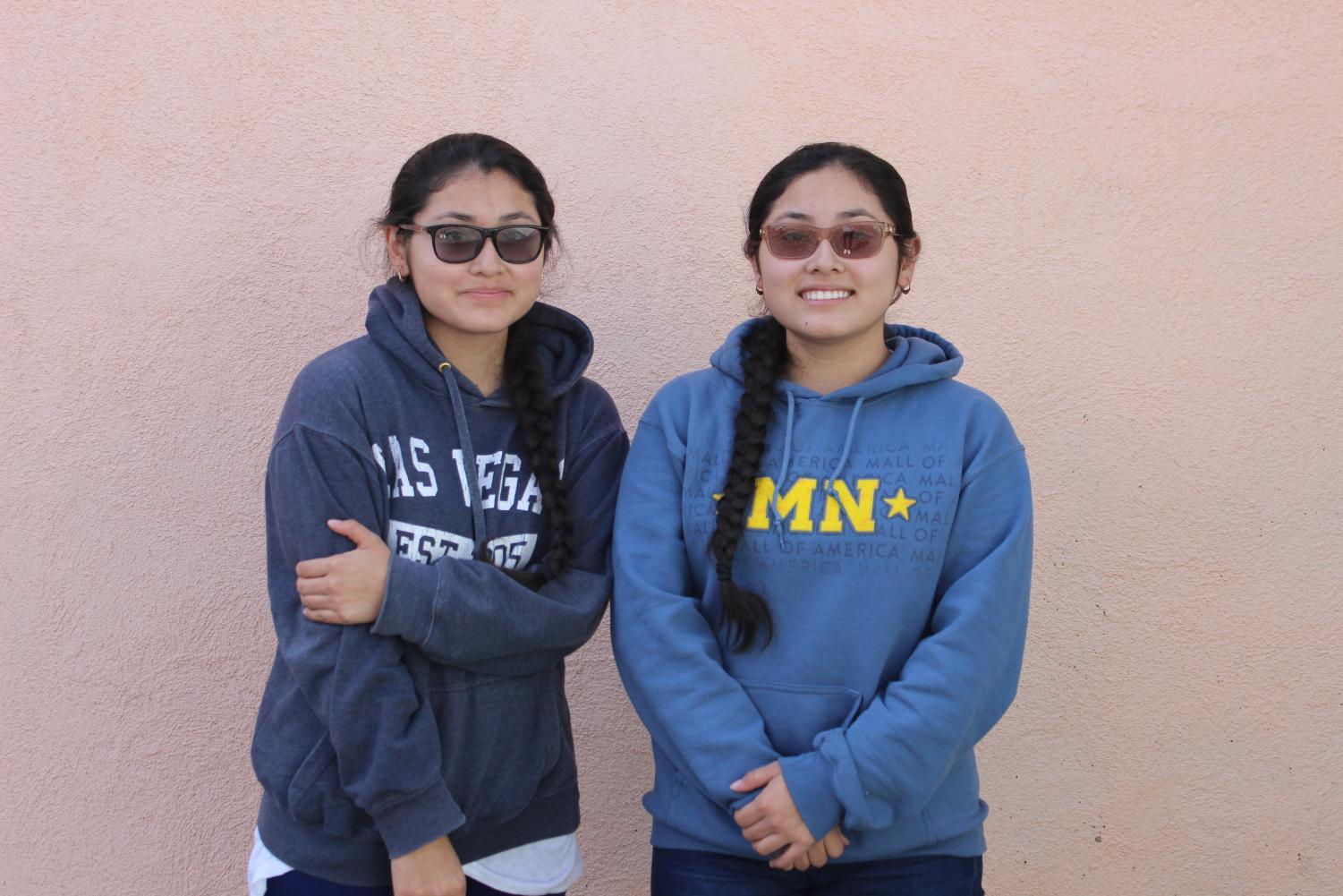 Juniors Nicole and Leticia Gabino have earned enough credits from community colleges to graduate one year early with the class of 2019.