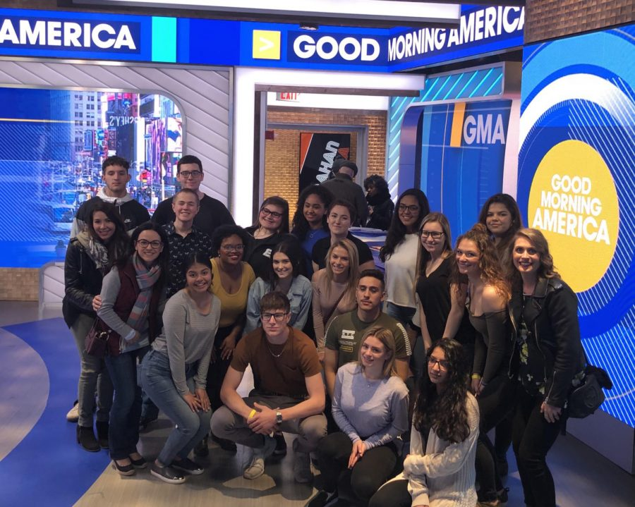 Students+enrolled+in+Becton%27s+communications+electives+were+selected+to+attend+a+live+taping+of+GMA+on+April+5.