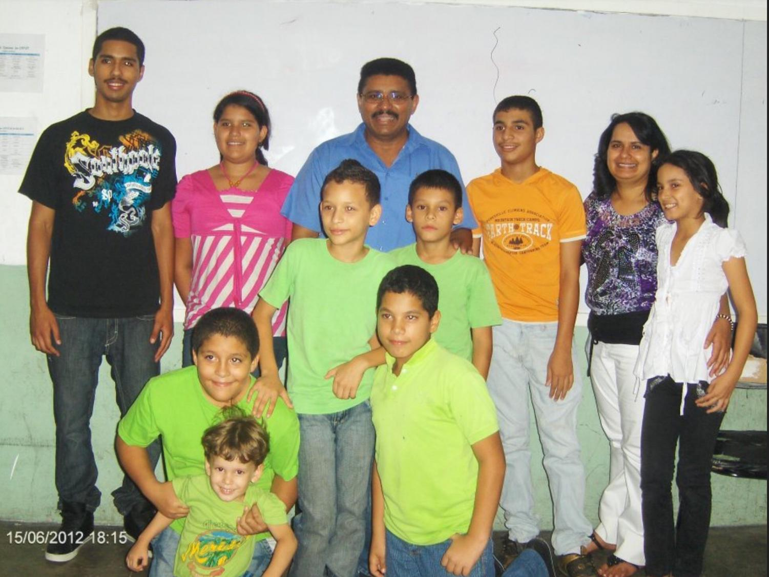 Senior Joangely Hernandez and her family spend time together for the first time in three years in Venezuela. In 2012 the Hernandez family was granted one week to go back to Venezuela because of a family emergency.