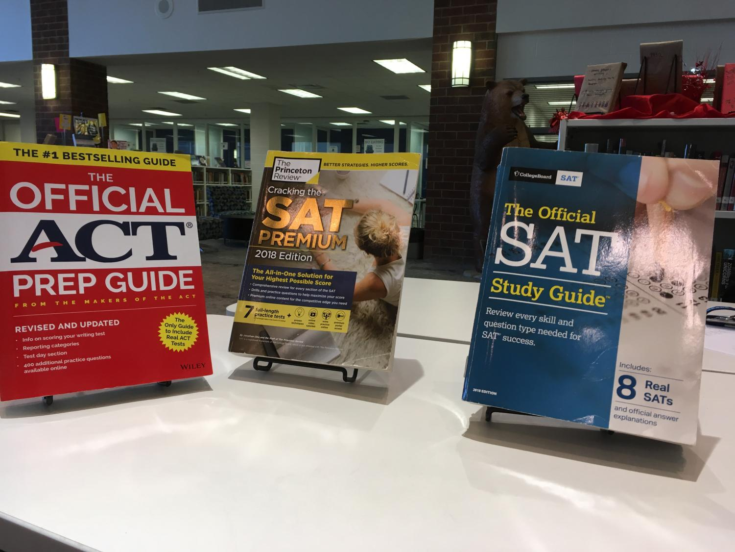 Several prep books for the SAT and ACT.  Study books like these offer less expensive alternatives to tutoring.
