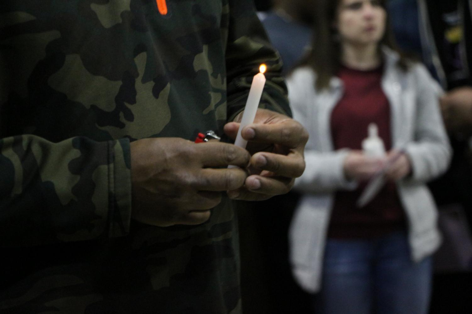 Students gathered at Robert Morris University to remember and honor the late Antwon Rose who was shot and killed by Pittsburgh Police officer Michael Rosfeld in 2018. Photo Credit: (RMU Sentry Media/Soundharjya Babu)