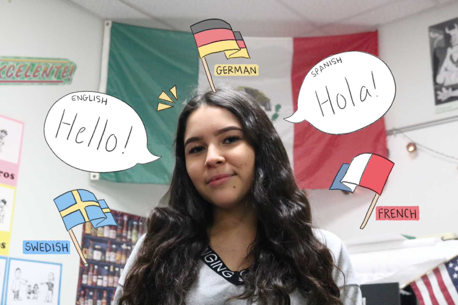 Coppell High School sophomore Jessica Schoen experiences various diverse cultures in her life. Schoen is fluent in German, Swedish, Spanish and English and is currently learning French.
