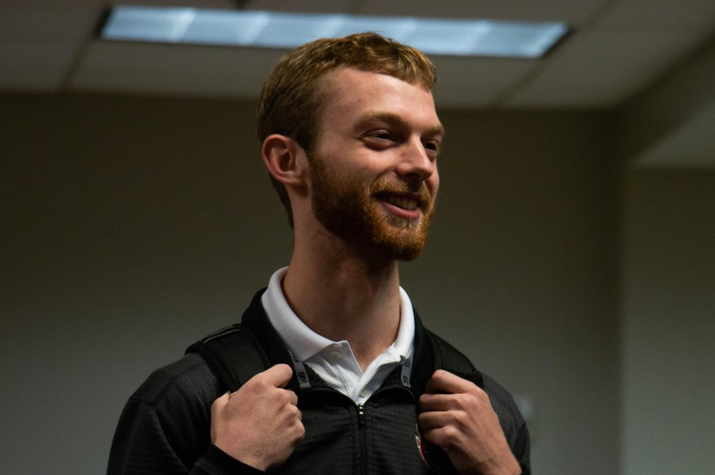 Junior Alan Henderson spent the month of November growing his beard for the competition. His hard work paid off because he won the competition.