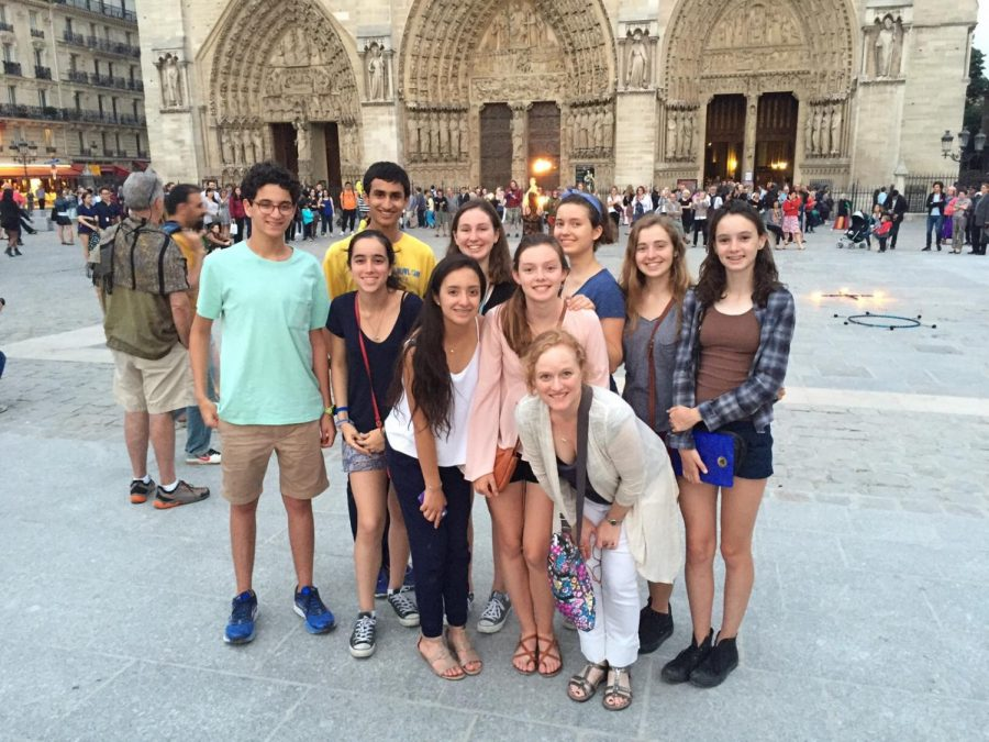 French+students+visited+the+cathedral+on+their+trip+to+Paris+in+2016.