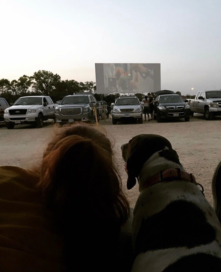 MOMENT TO REMEMBER: Kaitlyn Ford (12) is reminiscent of her nights spent at the Cascade Drive-In, now permanently closing down. Ford enjoyed being able to bring her pets along for the adventure.