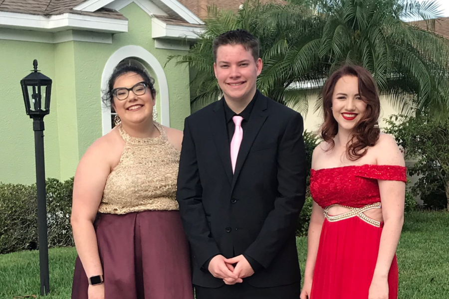Emily D'Amico ('19), Dylan Zoller ('20), and Olivia Elisha ('19) looking fabulous and ready to take on prom.