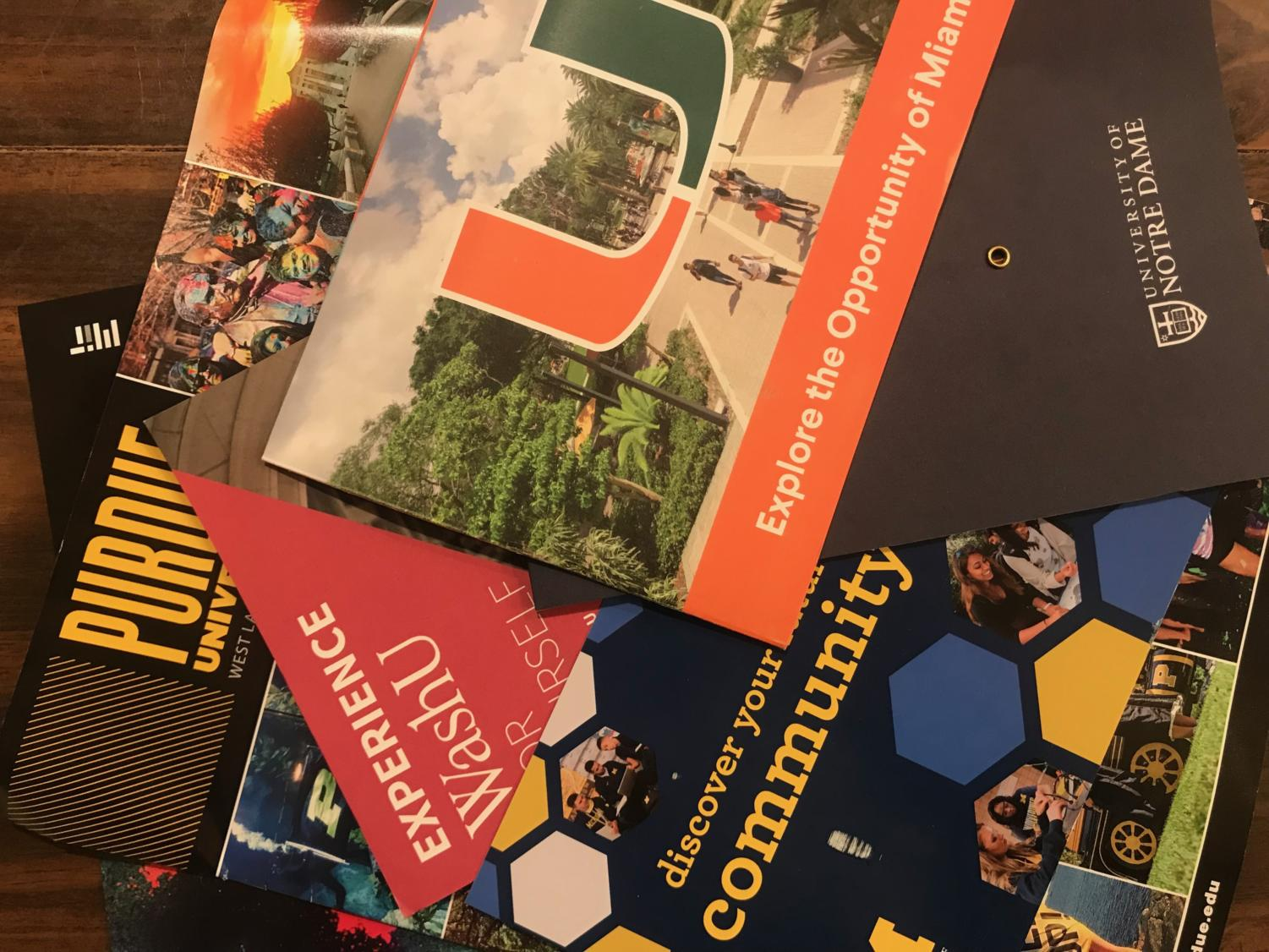 Pictured above is a pile of college mail. The climate surrounding college admissions has changed substantially over the past thirty years.