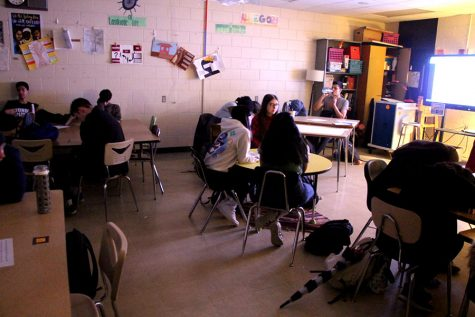 Meditation provides a 'mindful moment' for students after a stressful morning
