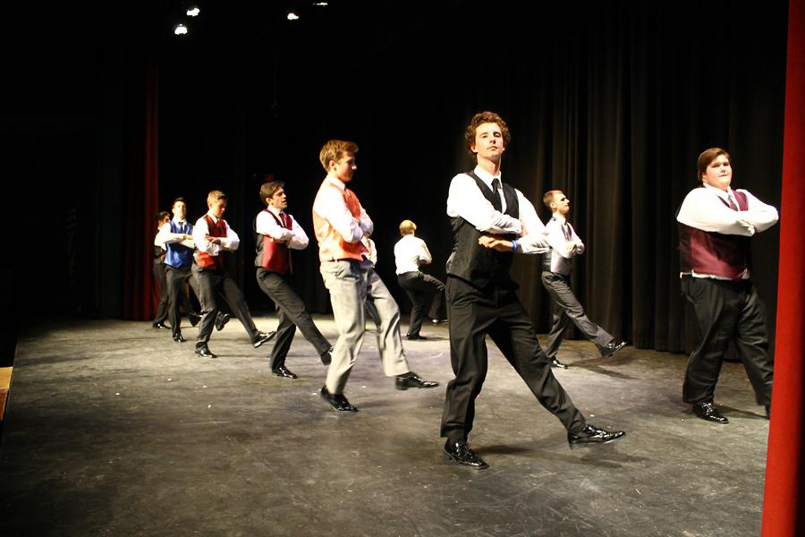 The Mr. HB contestants busted a move on stage back in the 2014 show, pictured above. A full three years before its cancellation, the contest brought in a large audience as well as a rather hefty profit for the Class of 2015.