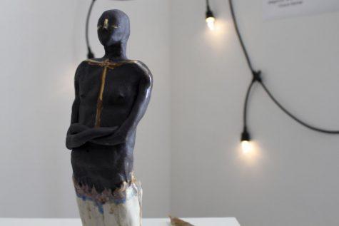 Grace Kerner sculpts her 'Simple Love' of ceramics in senior art show