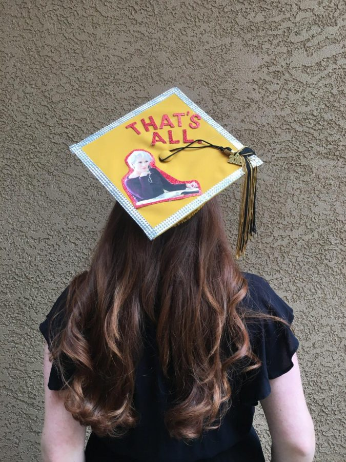 Ashley+Lazar%27s+graduation+cap+with+a+quote+from+Meryl+Streep+in+%22The+Devil+Wears+Prada.%22