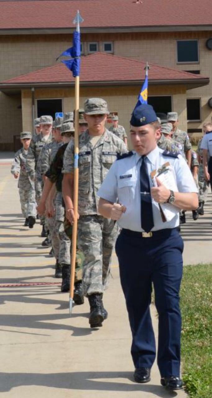 Antom Dahm helps lead and educate Civil Air Patrol cadets at summer encampment