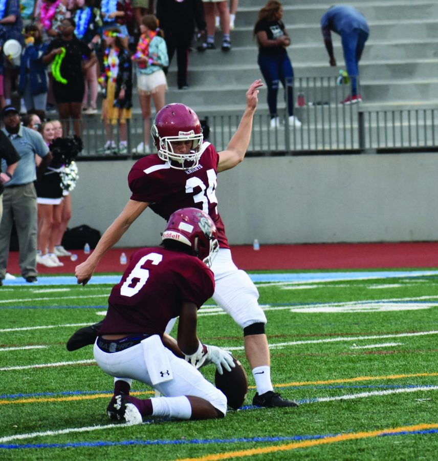Senior wins kicking camp competitions, impacts team