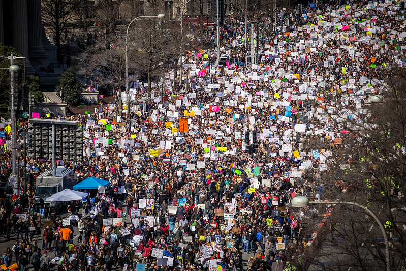 Following+the+Stoneman+Douglas+shooting%2C+hundreds+of+thousands+gathered+for+the+March+for+Our+Lives+rally+to+protest+gun+violence+on+March+24%2C+2018.
