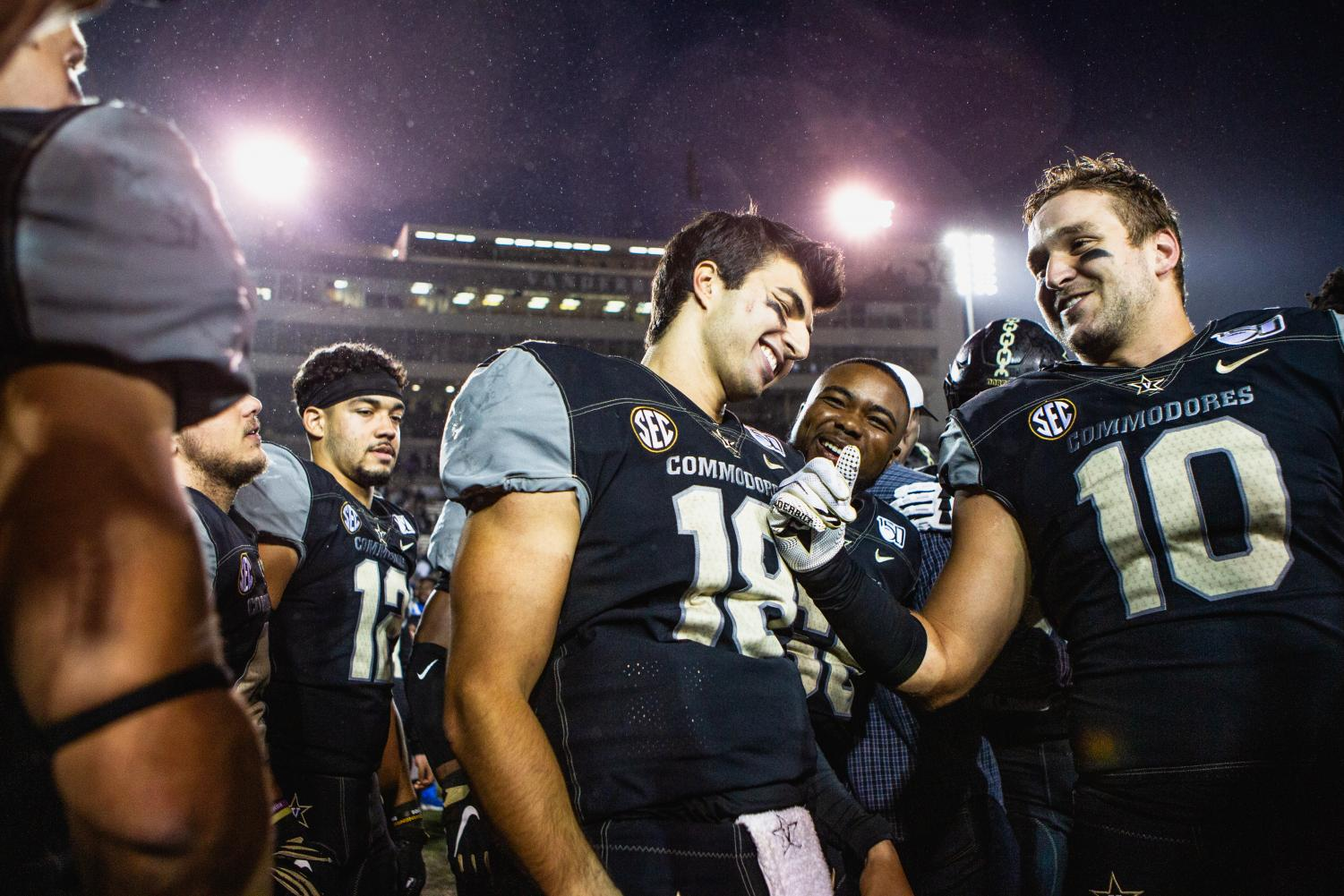 Vanderbilt upsets Mizzou for Homecoming Weekend on Saturday, October 19, 2019. (Photo by Hunter Long)