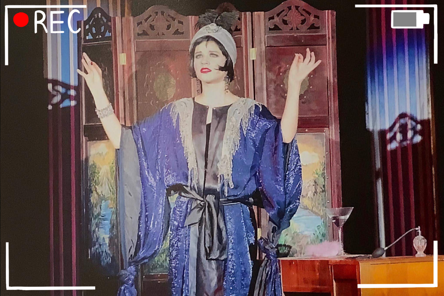 """Coppell High School 2013 graduate  María José Zuniga performs in the CHS theatre production of """"The Drowsy Chaperone"""". María José Zuniga recently starred in the 2019 thriller Survival Box. Photo courtesy Round-Up"""