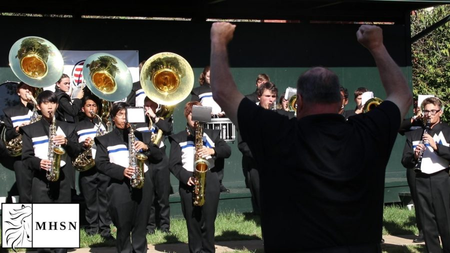 MHSNews | Marching Band Performs for Gateway Warriors Golf Tournament
