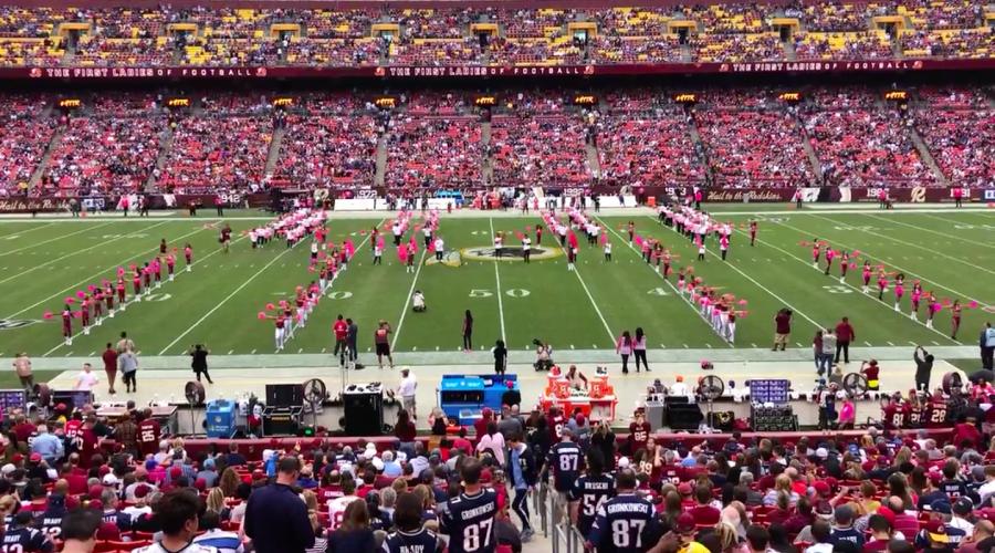 Poms perform in Redskins' halftime Spirit Explosion