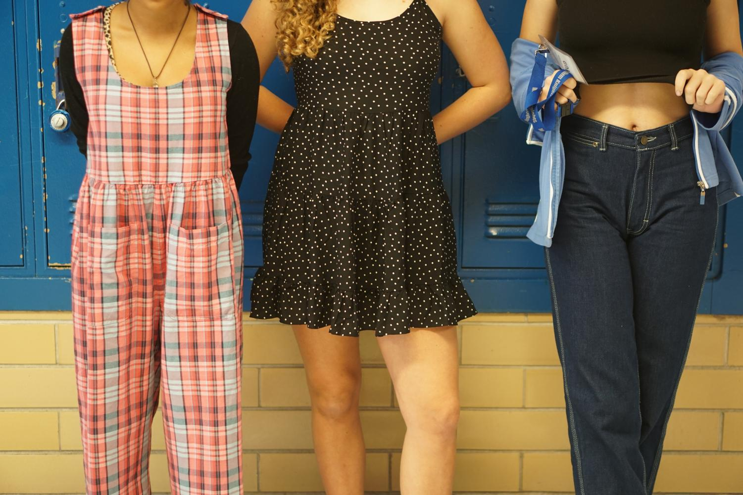 Students aren't supposed to expose their midriff, but other than that, the new dress code allows students greater flexibility to wear what they want to wear. Photo by Samantha Powers.