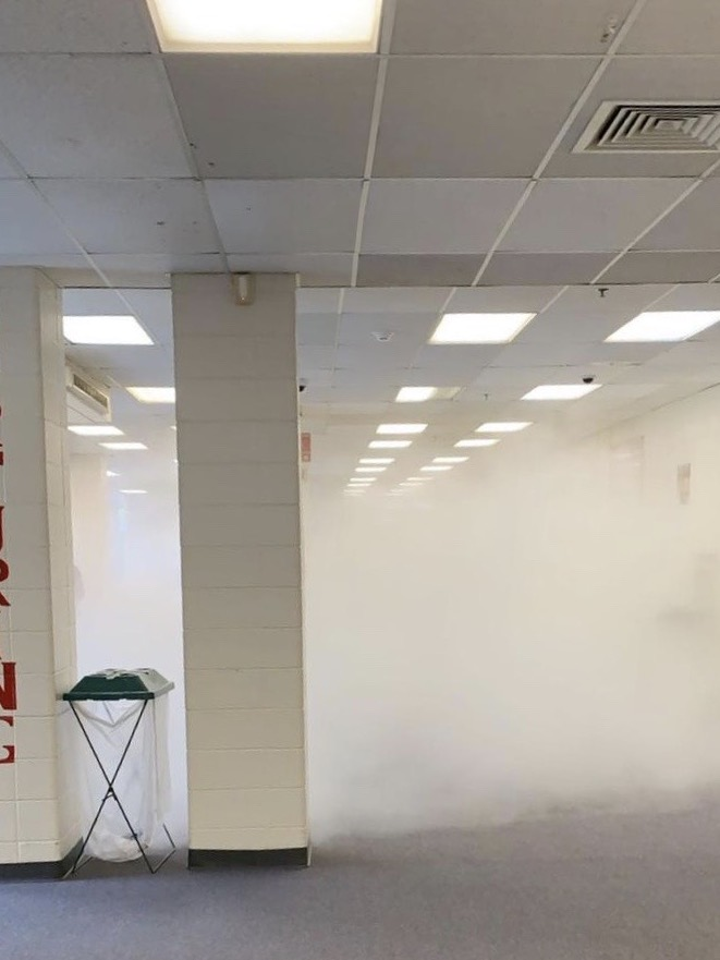 Continued coverage: Fire extinguisher discharge called for school evacuation