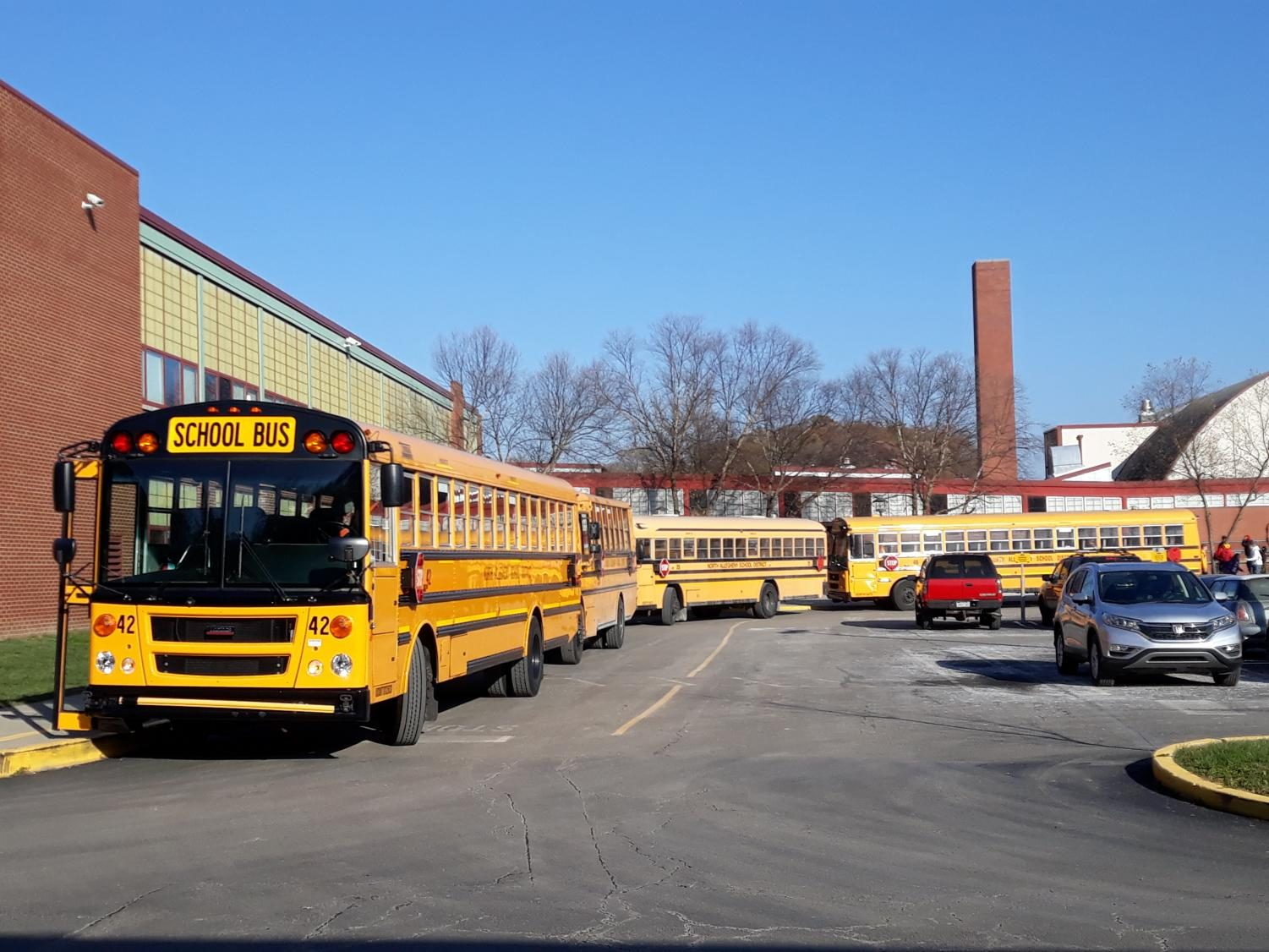 A large number of bus drivers is required  for the sheer number of school buses that service North Allegheny every day.