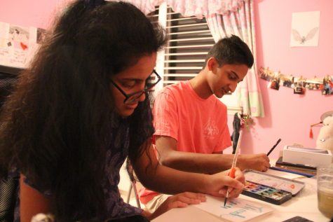 Palavali siblings paint aid for Doctors Without Borders