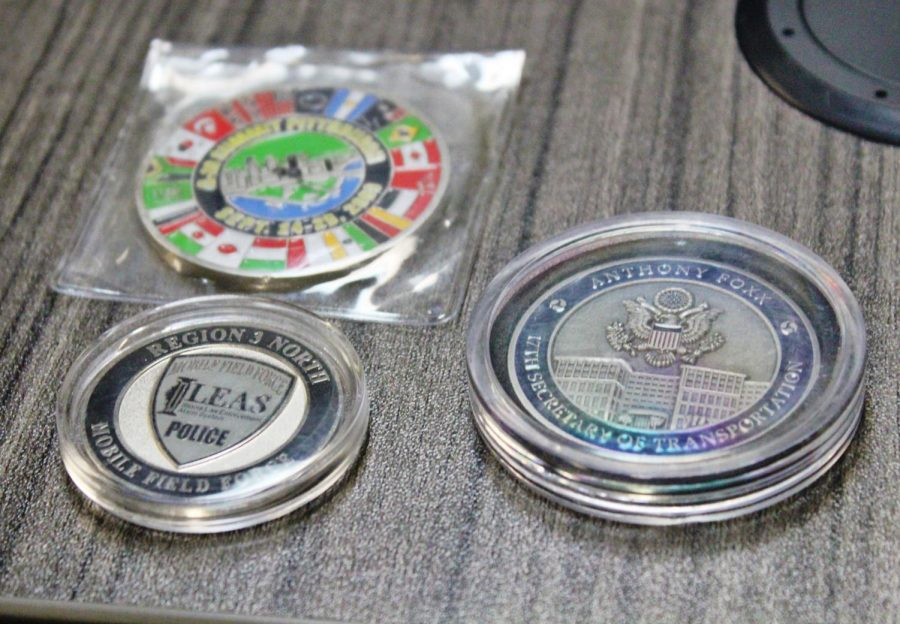 District 86 security institutes challenge coins