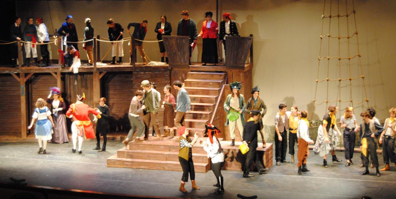 The cast of RB's production of Peter and the Starcatcher takes the stage