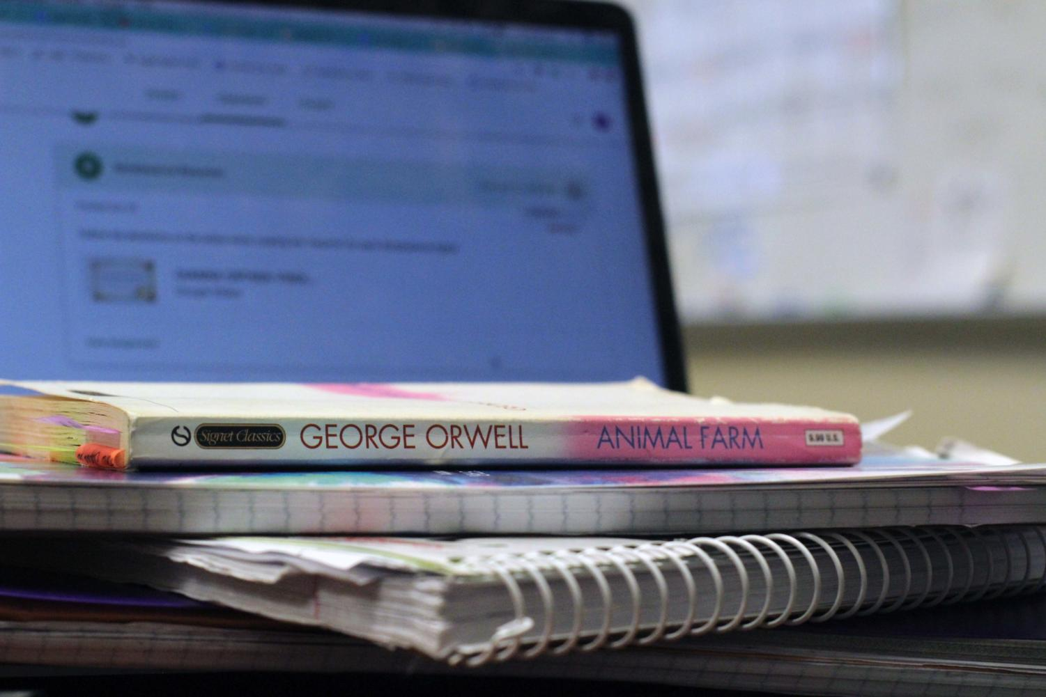 Students are often swamped with work, and over the span of eight class periods, homework can often take several hours to complete. Photojournalist Gianna Ortner-Findlay snapped a photo of the sheer amount of homework she has.